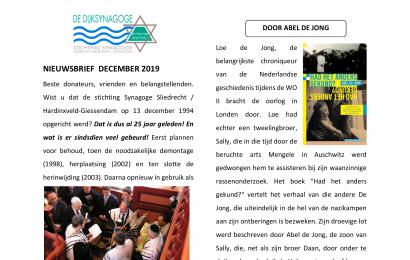 Nieuwsbrief december 2019